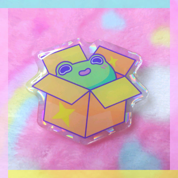 Froggy Wizards: Box Frog Acrylic Pin