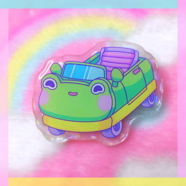 Froggy Objects: Car Acrylic Pin