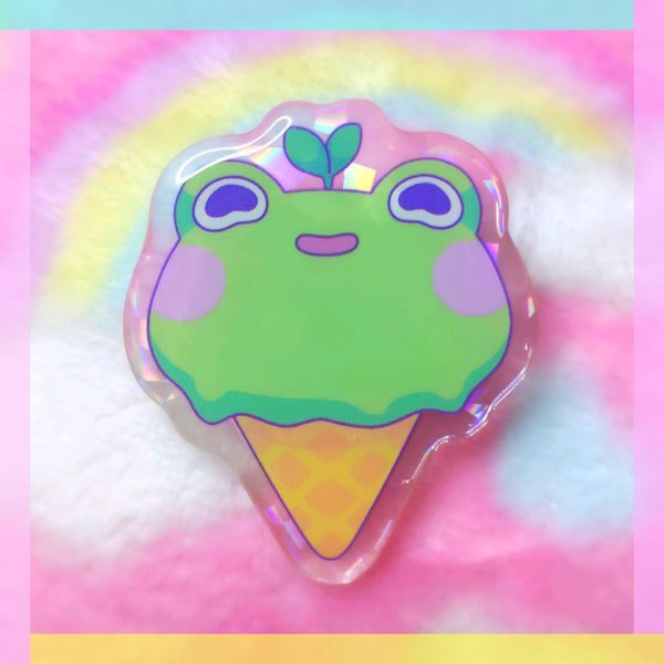 Froggy Objects: Ice Cream Acrylic Pin