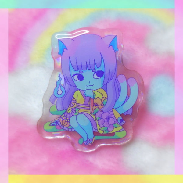 Yokai Girls: Bakeneko Acrylic Pin
