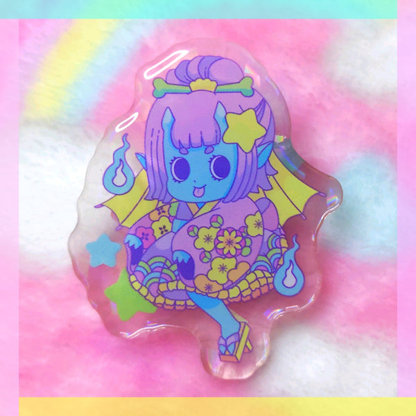 Yokai Girls: Kasaobake Acrylic Pin