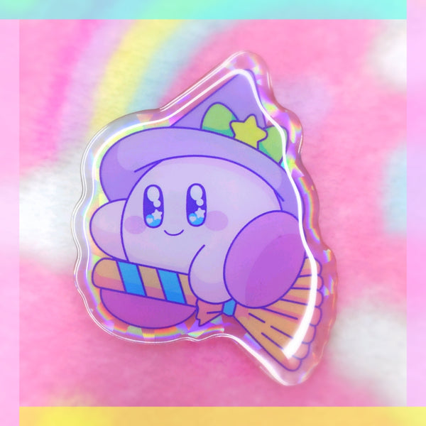 Kirby: Witch Acrylic Pin