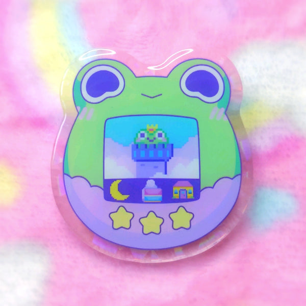 Froggy Objects: Tama Frog Acrylic Pin