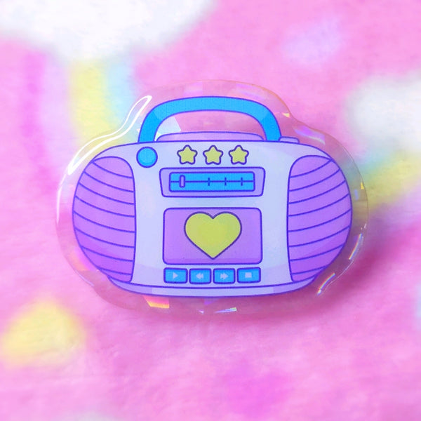 Lemon Meringue: Magical Radio Acrylic Pin