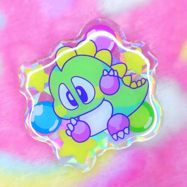 Bubble Bobble: Bub Acrylic Pin