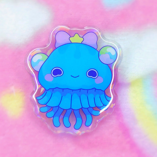 Jelly Princesses: Blue Jelly Acrylic Pin