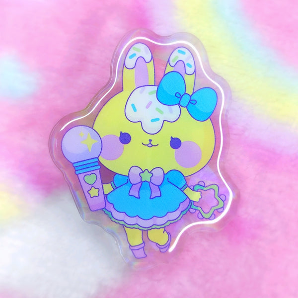 Lemon Meringue: Pop Star Acrylic Pin