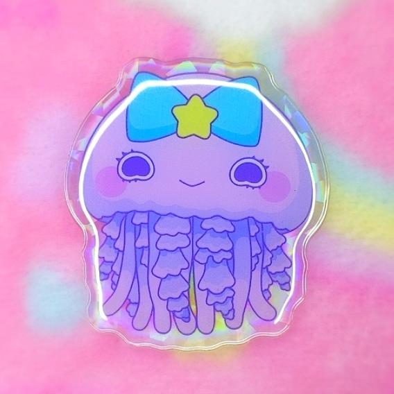 Jelly Princesses: Pink Jelly Acrylic Pin