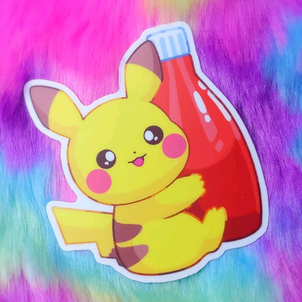 Zappy Meal: Ketchup Pika Sticker