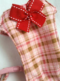 Pink Plaid with Ribbon Bow