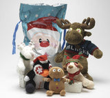 Holiday Gift Bags Stuffed with Adorable SQUEAKY Dog Toys