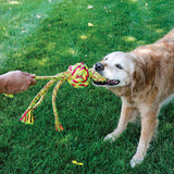 KONG's Wubba Weaves Rope Dog Toy with Squeaker: 3 Sizes