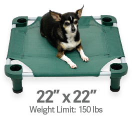 "4Legs4Pets Elevated Dog Bed: 22""x22"""