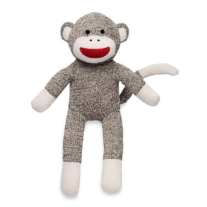 Classic Sock Monkey Stuffed SQUEAKY Toys for Dogs