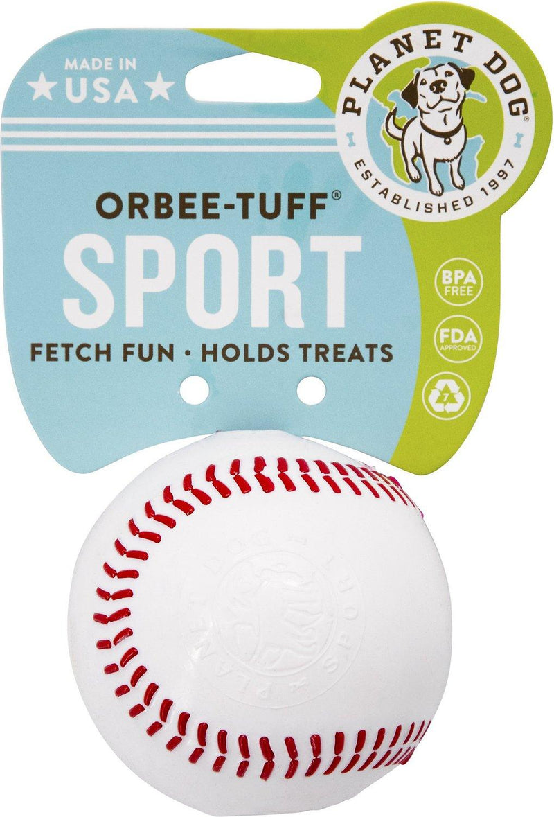 Planet Dog Orbee-Tuff Sport Baseball Tough Dog Chew Toy