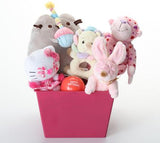 Happy Barkday Pink & SQUEAKY Dog Gift Basket: 3 Sizes