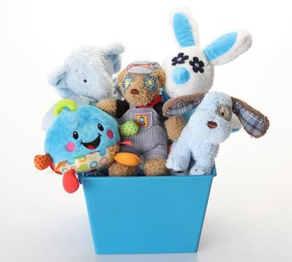 Boy-oh-Boy SQUEAKY Gift Basket for Dogs & Puppies: 3 Sizes - Glad Dogs Nation | www.GladDogsNation.com