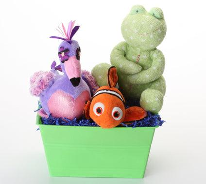 WaterWorld Basket with SQUEAKY Toys: 3 Sizes