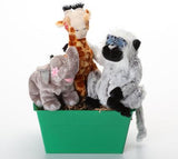 """Into the Wild"" Dog & Puppy Gift Basket with SQUEAKY Toys & Antler: 3 Sizes"