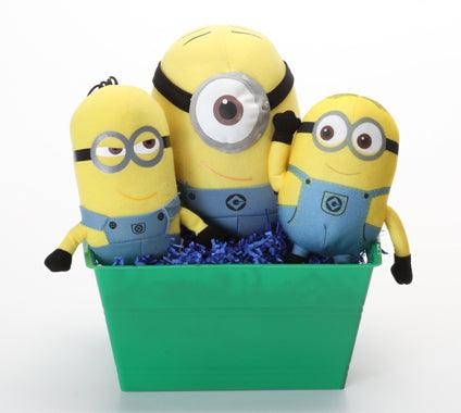 Minions Despicable Me SQUEAKY Dog Toys Gift Basket