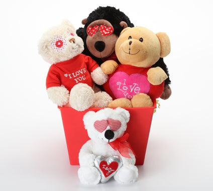 Hearts & Love Medium SQUEAKY Gift Basket