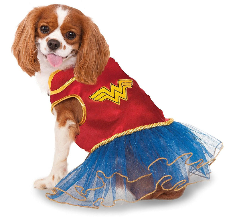 Wonder Woman Dress Pet Costume: Medium