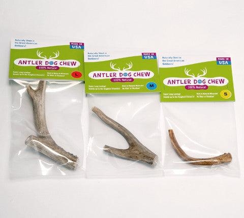Naturally Shed Deer Antler Chews for Dogs: Mini to Large