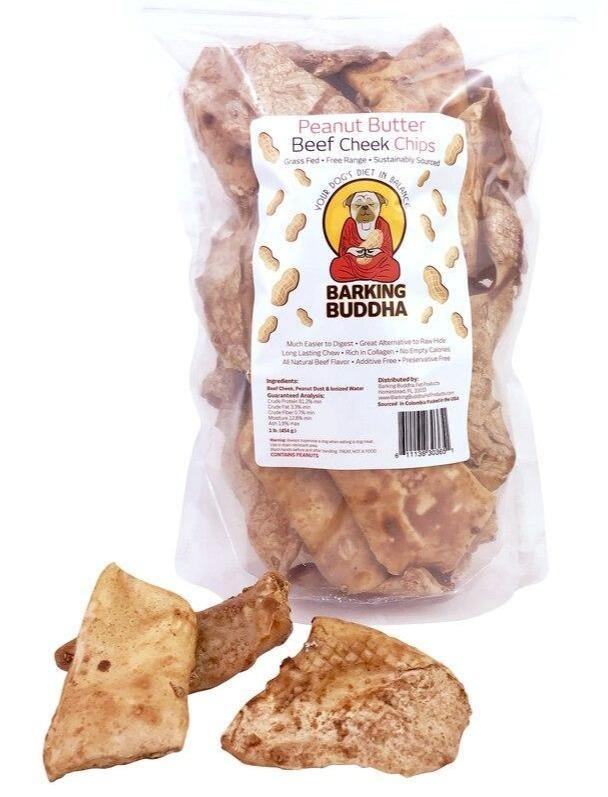 Barking Buddha Beef Cheek Chips Value Pack: Original or Peanut Butter - Glad Dogs Nation | www.GladDogsNation.com