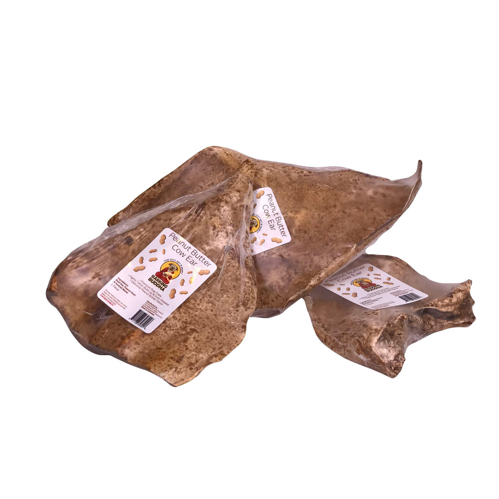 SAVE 25%! Free Range Peanut Butter Cow Ears: Medium & Large Dogs