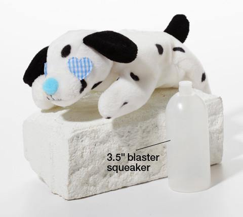 Blaster Baby Lightly-Stuffed Dog Toy with Big SQUEAKER / Beanie Babies with No Beans!