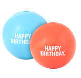 "Orbee Tuff 3"" Happy Birthday Ball: Coral & Blue"