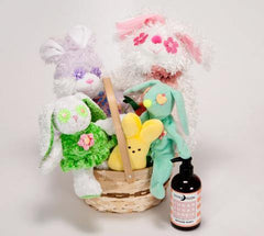 Easter Basket with Squeaky Spring Toys for Dogs