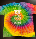 Glad Dogs Nation Short Sleeve Spiral Tie-Dye T-Shirt for Kids