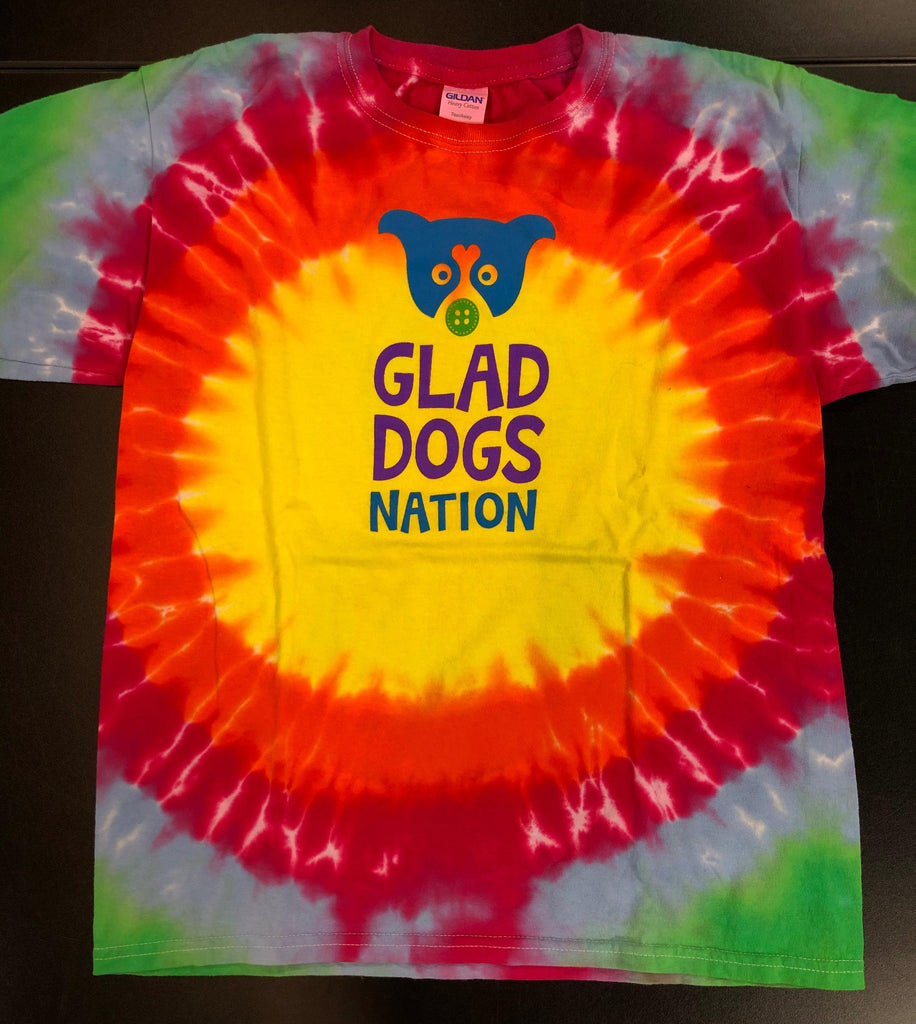 Glad Dogs Nation Short Sleeve Starburst Tie-Dye T-Shirt for Kids