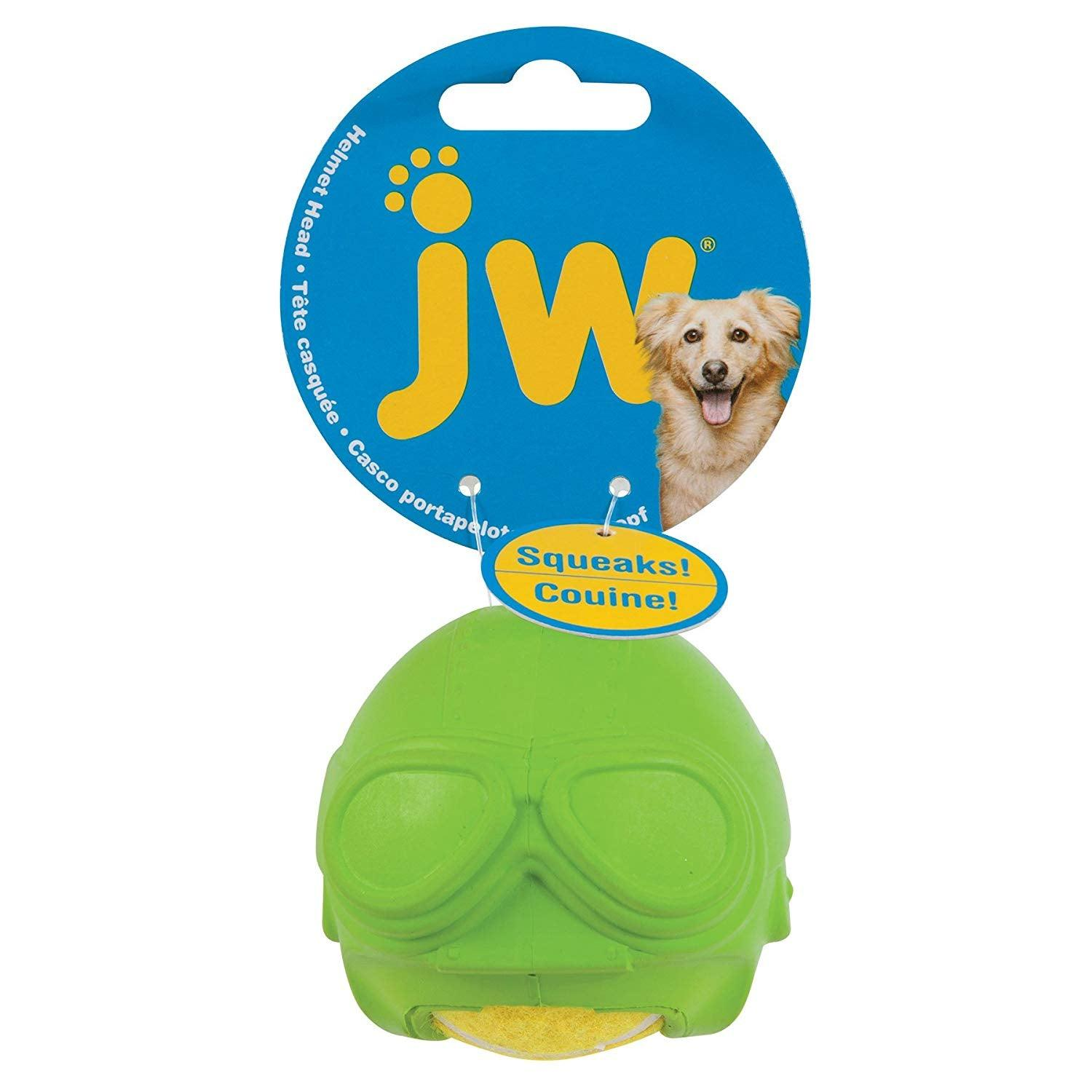JW Pet Aviator Helmet Head Dog Toy