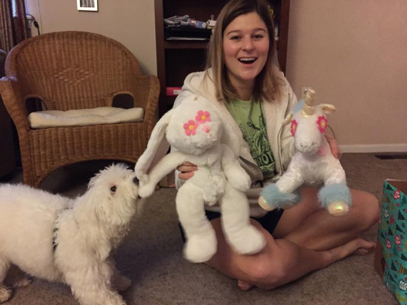 Wish List: Large SQUEAKY Stuffed Toys for Virginia Paws for Pits