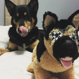 Mini Me Squeaky Dog Breed Toy: German Shepherd