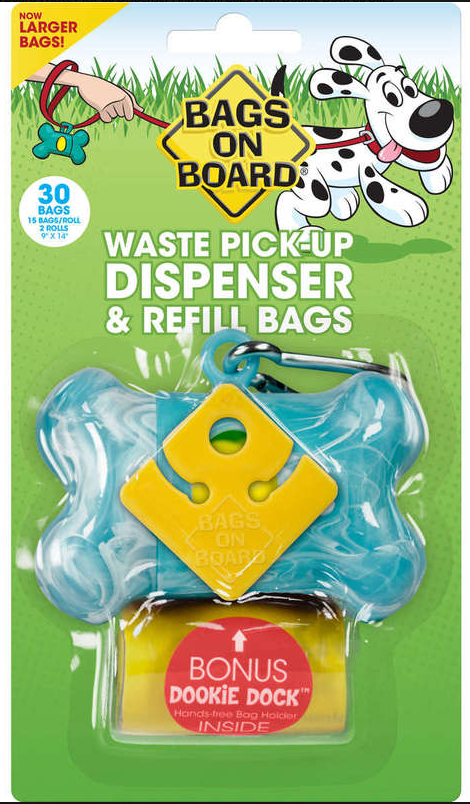 50% OFF! Bags on Board Waste Pick-up Dispenser & 30 Refill Bags With Dookie Dock
