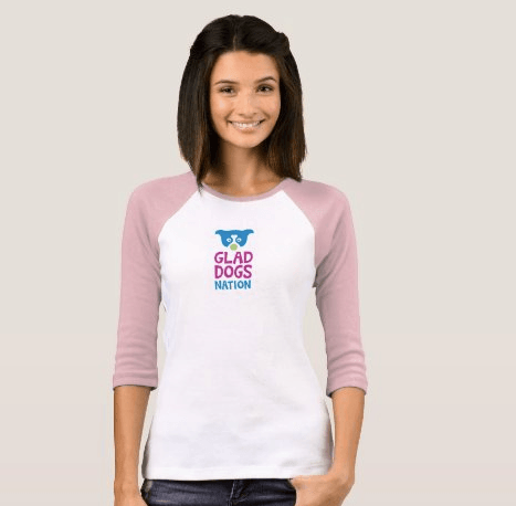 Glad Dogs Nation 3/4 Sleeve T-Shirt for Women