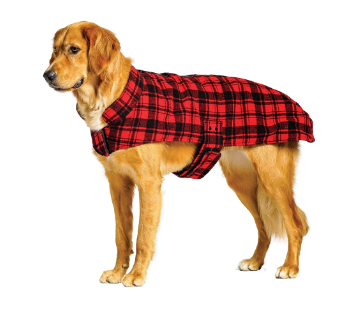 50% OFF! Bailey & Bella Faux Wool Red Plaid Blanket Coat - Glad Dogs Nation | www.GladDogsNation.com