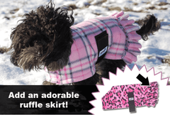 SnugPups Fleece Coats with Ruffle Skirt