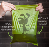 Earth Rated Eco-Friendly Poo Bags Dispenser with Extra Long Bags