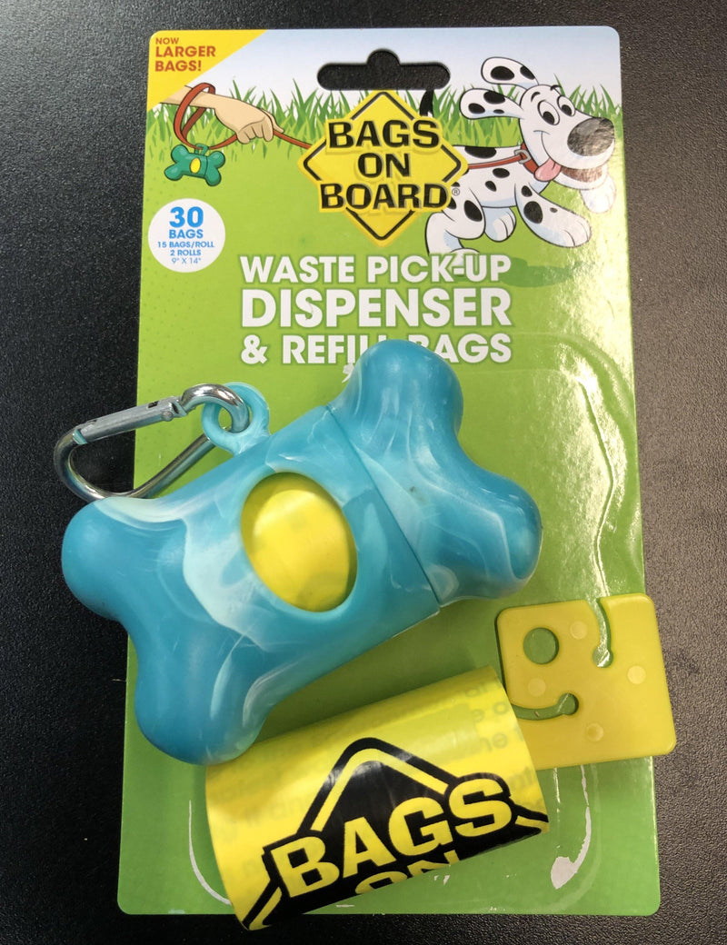 50% OFF! Bags on Board Waste Pick-up Dispenser & 30 Refill Bags With Dookie Dock - Glad Dogs Nation | www.GladDogsNation.com