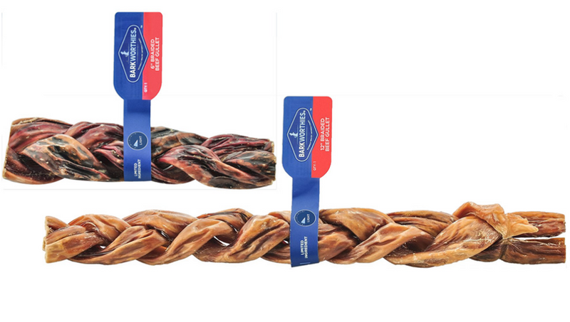 Barkworthies Braided Beef Gullets: 2 Sizes - Glad Dogs Nation | www.GladDogsNation.com