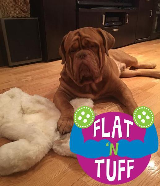 XXLarge FLAT 'N TUFF Dog Toy with NO STUFFING / Great for Chewers