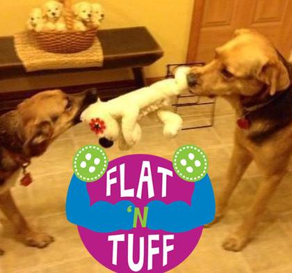 LARGE FLAT 'N TUFF Dog Toy with NO STUFFING / Great for TOUGH Chewers