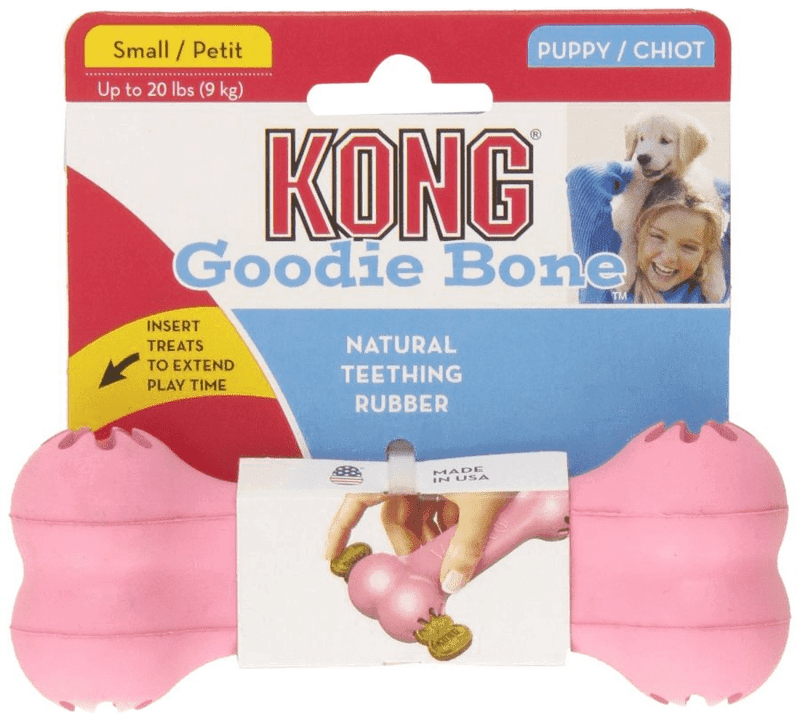 Small KONG Puppy Goodie Bone Dog Toy, Pink or Blue • CHEAPER THAN CHEWY