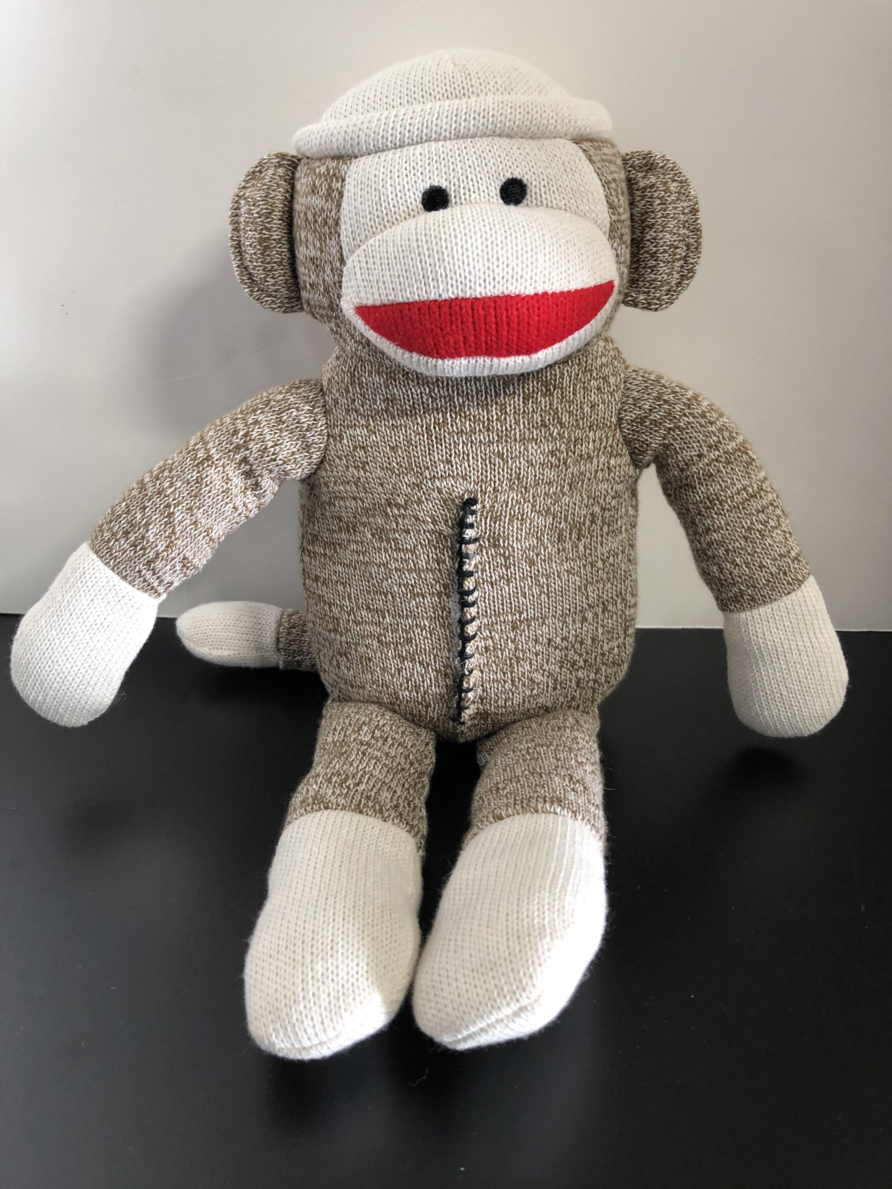 Classic Sock Monkey Stuffed SQUEAKY Toys for Dogs - Glad Dogs Nation | www.GladDogsNation.com