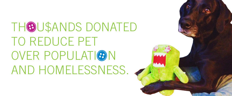 100% of profits donated to reduce pet overpopulation!