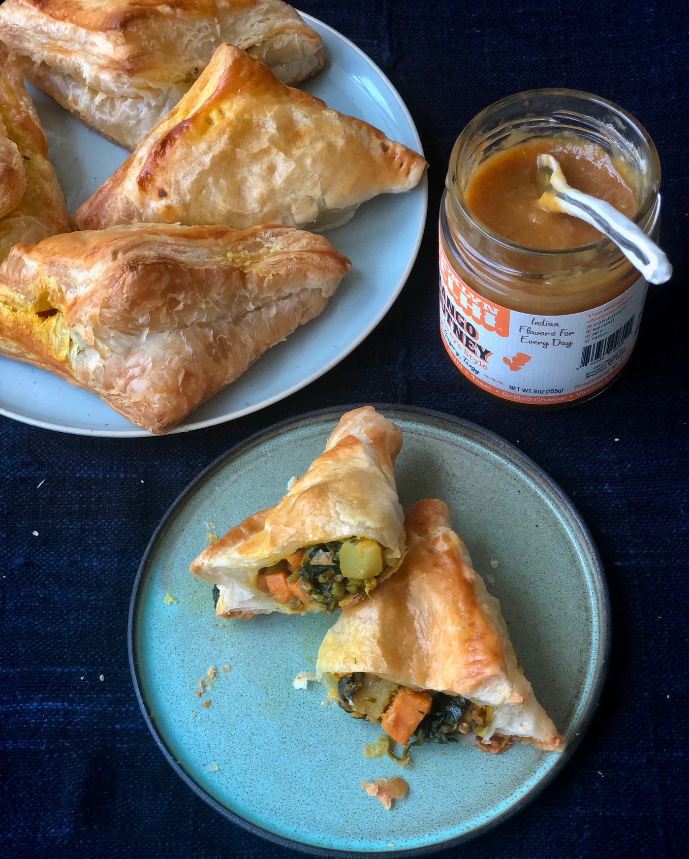 Yewande's Spicy Vegetable Puff Pies With Mango Chutney Dip {RECIPE}